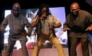 """Governors Peter Obi and Babatunde Raji Fashola of Anambra and Lagos State respectively were spotted showing their dance moves with Daddy Showkey on stage after they were named the joint winners ofSilverbird """"Man of the Year"""" Award."""